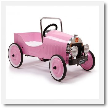 Baghera Classic Pink Pedal Car