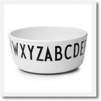 Design Letters Alphabet Melamine Bowl