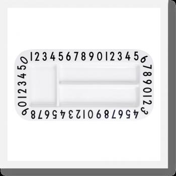 Design Letters Rectangular Snack plate, black and white melamine plate for kids