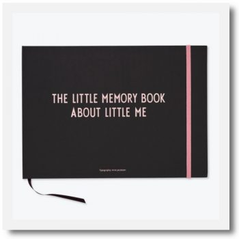 design letters memory book in pink